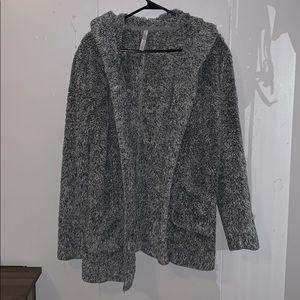 Gray Aeropostale fuzzy jacket